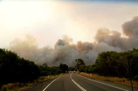 bushfire on approach