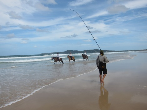 walking the beach we came across some locals riding their horses