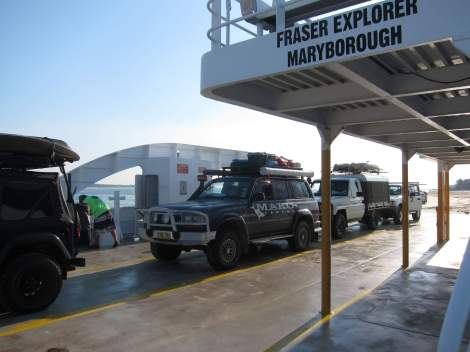 The MAKO truck on the ferry on route to Fraser
