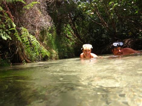 snorkling in beautiful Eli Creek