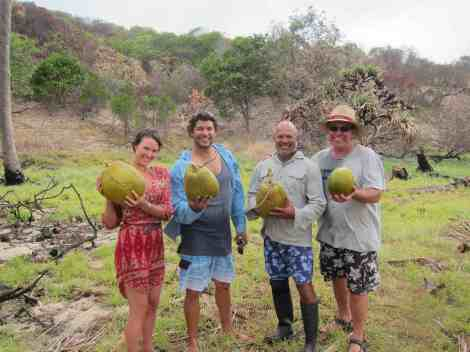 Our coconut wrangling success!