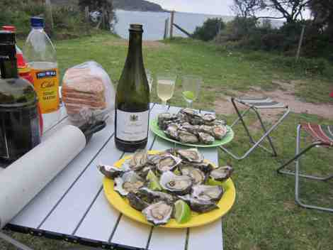 oysters and sparkling!