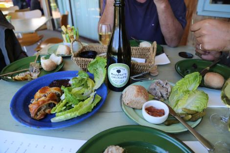 Our lunch at Maggie Beer's farm shop