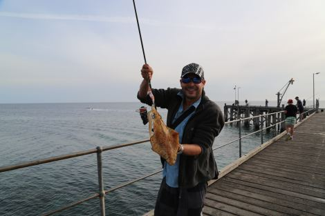 squid catching Point Turtan Jetty