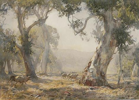 Hans Heysen painting