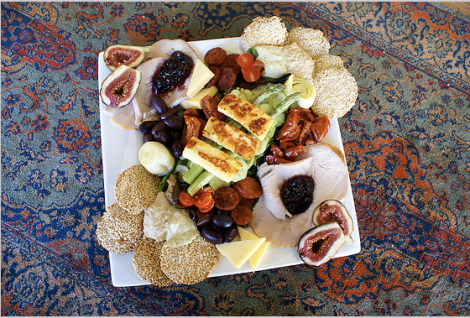 Delicious platter at Chapman River Wines