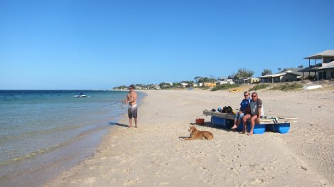 Black Point- Ossie, Maria and Brits with Dan fishing